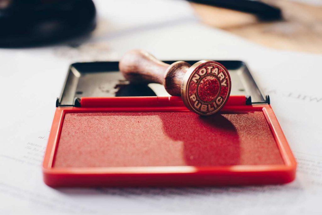 Metal Notary Public Ink Stamper.